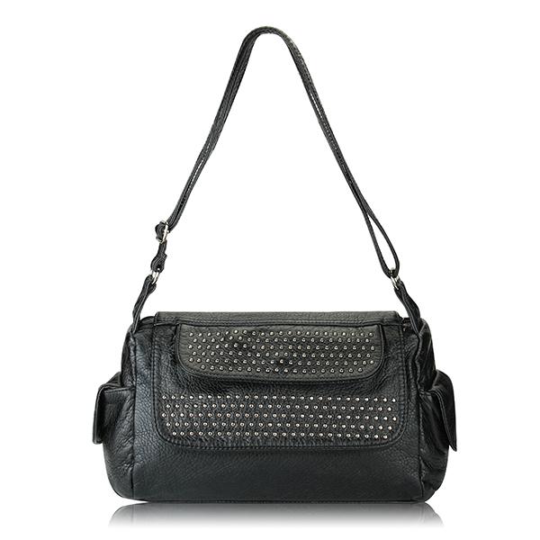 Rivet Messenger Bag