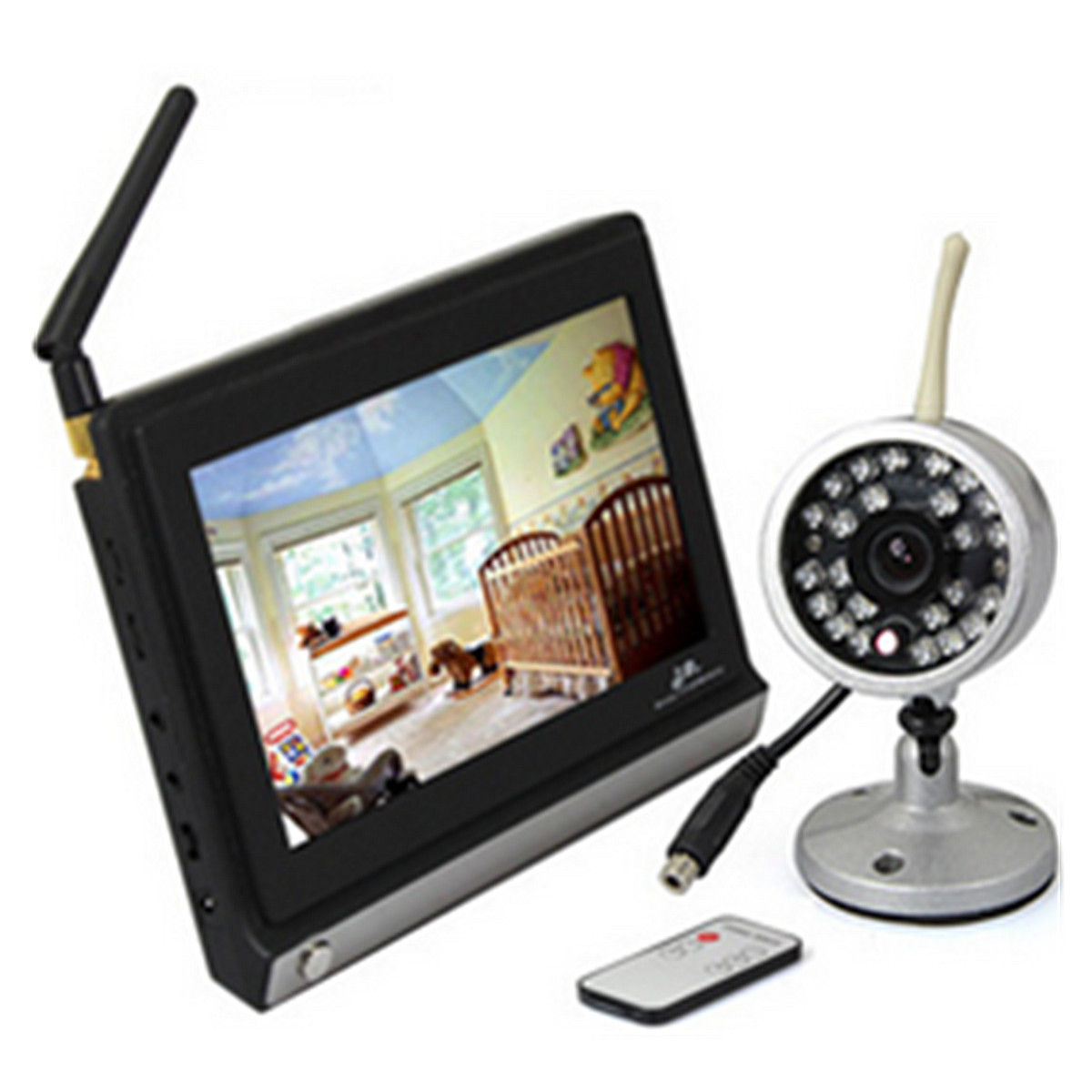 7inch TFT LCD Screen Digital Wireless Video Remote Camera Baby Monitor Night Vision Security Cameras