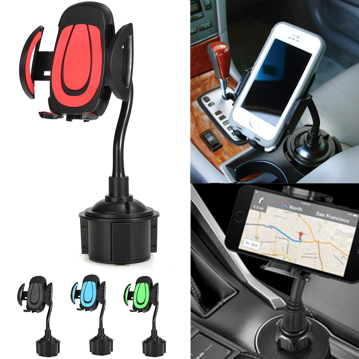 360 Rotatable Grip Adjustable Cup Holder Stand Mount For Smartphone