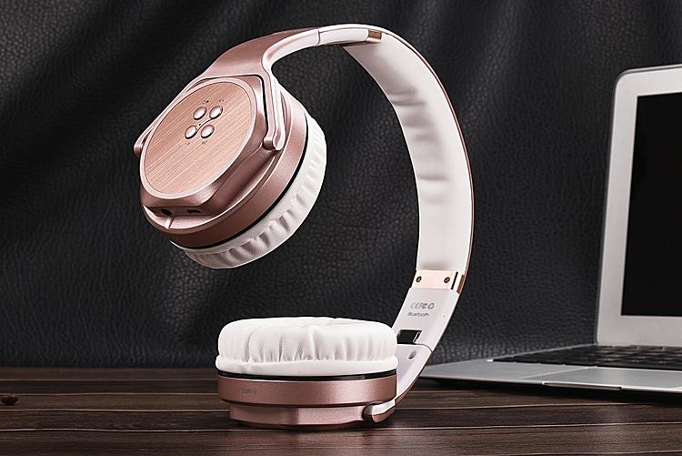 Earphones bluetooth headset - bluetooth earphones rose gold
