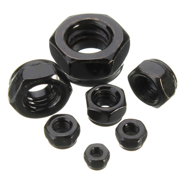 10pcs Carbon Steel Self Locking Hex Nut Nylon Insert Lock Nut M2/M2.5/M3/M4/M5/M6/M8