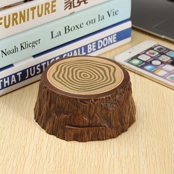 Buy Outdoor Protable Mini Tree Speaker Hands-free Bluetooth Wooden Stump Music Subwoofer