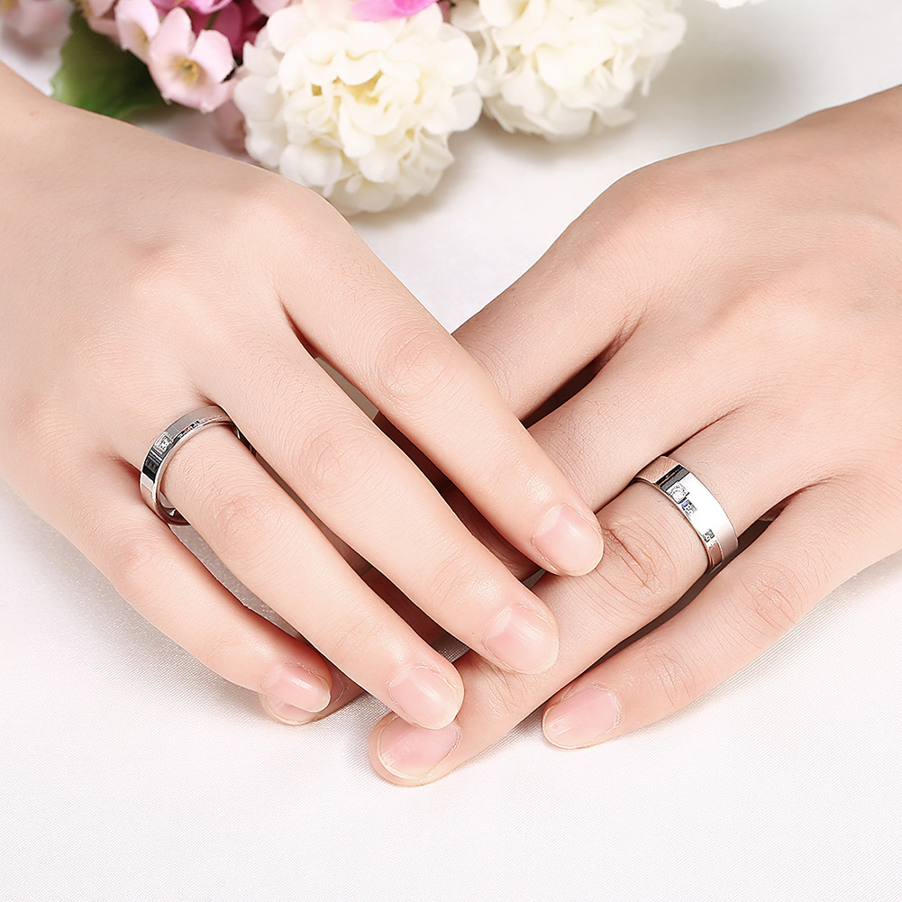 Silver Stainless Steel Endless Love Lover Ring Women Men Ring Jewelry Gift