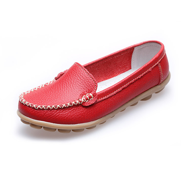 Women Casual Flats Round Toe Loafers Soft Sole Slip On Flat Loafers women embroidery shoes chinese style flats mary janes casual red black blue soft sole old peking dance cloth shoes