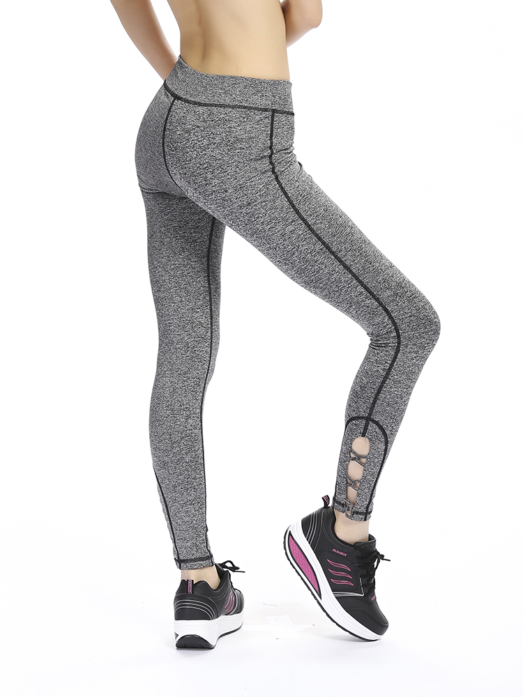 Women Elastic Leg Cross Quick-drying Tight Running Yoga Workout Pants Leggings