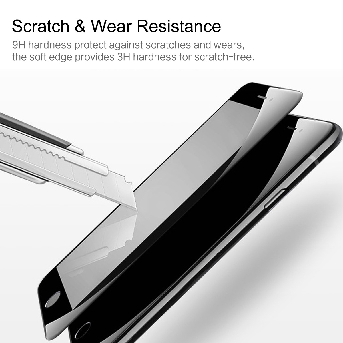 Rock 0.23mm 3D Soft Edge Tempered Glass Screen Protector For iPhone 8