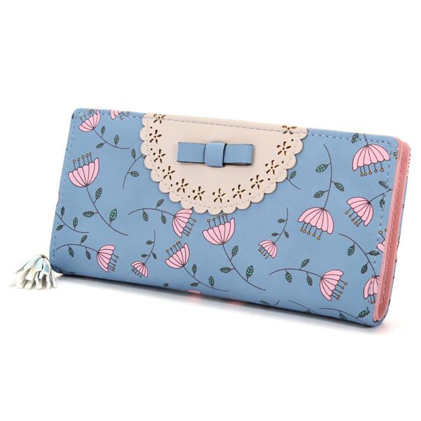 Floral  Long Wallet