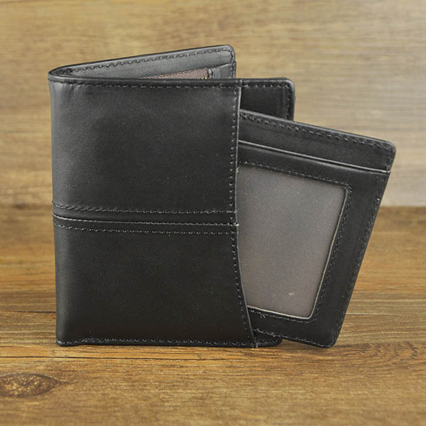 Retro Men Genuine Leather Zipper Wallet Card Holder