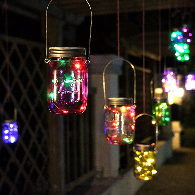 8 LED Solar Power Hanging Glass Jar Lamp Garden Courtyard Landscape Decor Light шляпа goorin brothers goorin brothers go001cmcdk27