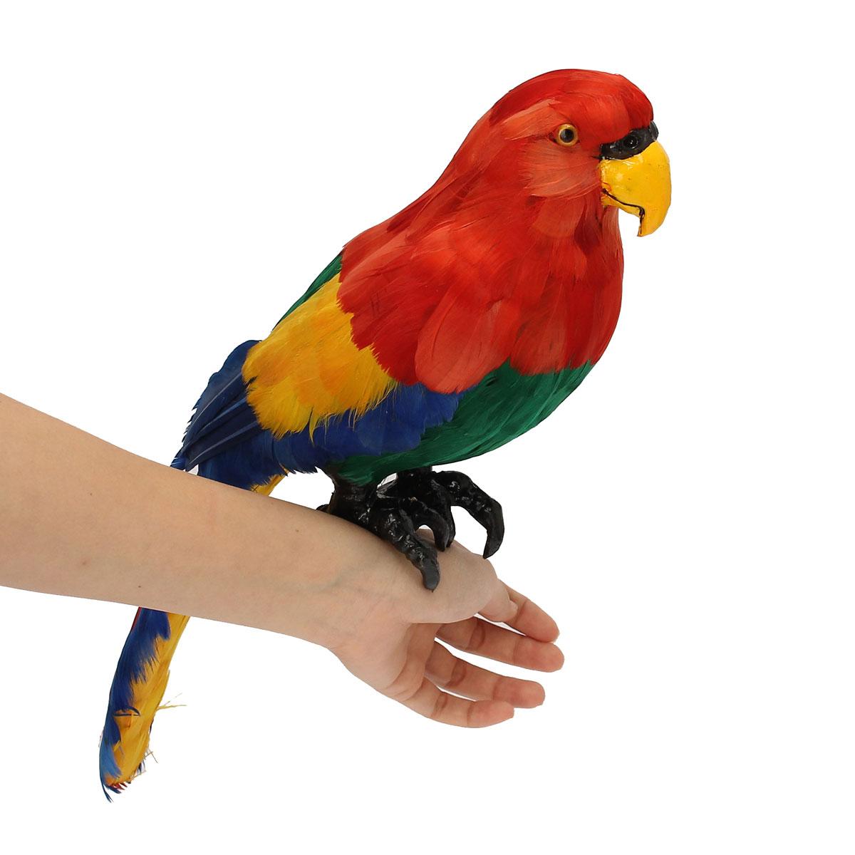 Artificial plastic parrot animal decor handicraft garden for Artificial birds for decoration