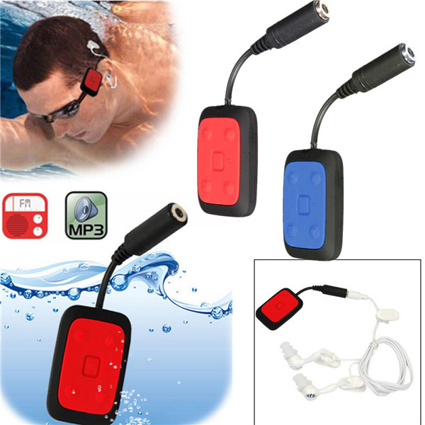 IPX8 8GB Mini Waterproof Underwater Sport Swimming MP3 Music Player Wi