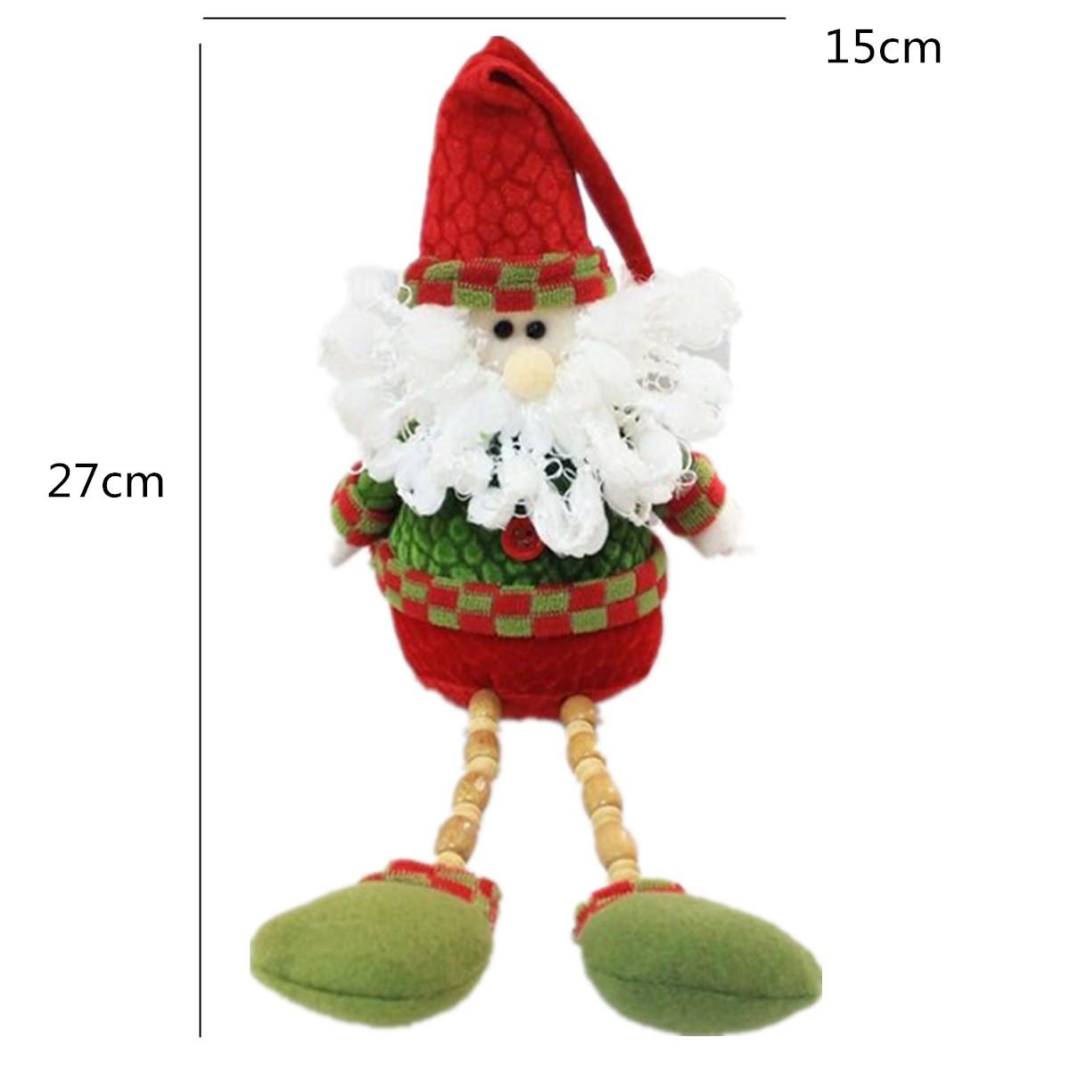 Santa Claus Snowman Reindeer 26x13cm Christmas Doll Home Decor Xmas Gift - Photo: 7