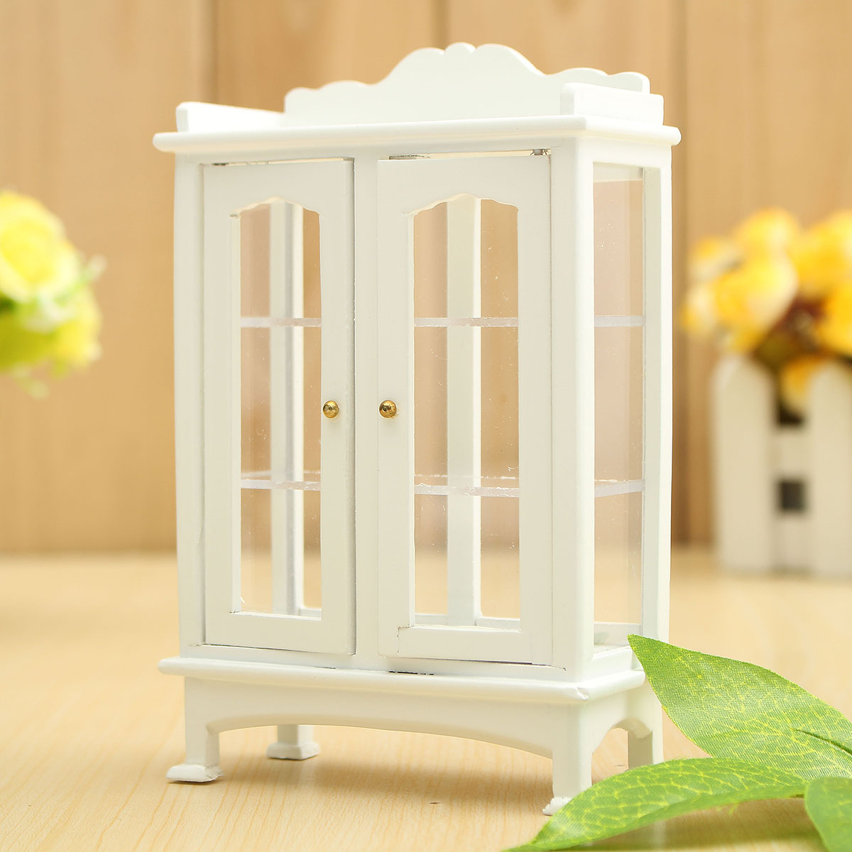White 1 12 Dollhouse Miniature Furniture Wooden Display Cabinet 14 Alex Nld
