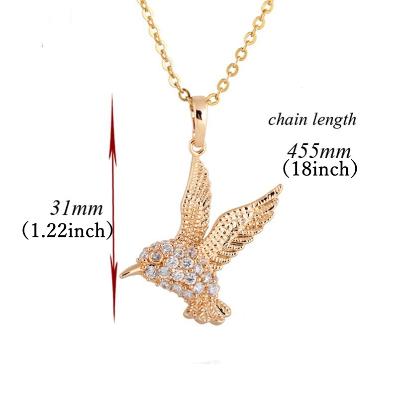 Kuniu 18K Gold Plated Eagle Pendant Chain Necklace Female Jewelry