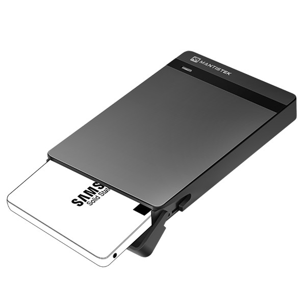 MantisTek™ Mbox2.5 Tool-Free USB 3.0 SATA HDD and SSD Enclosure HDD External 2.5 Case Support UASP SATA III ugreen hdd enclosure sata to usb 3 0 hdd case tool free for 7 9 5mm 2 5 inch sata ssd up to 6tb hard disk box external hdd case
