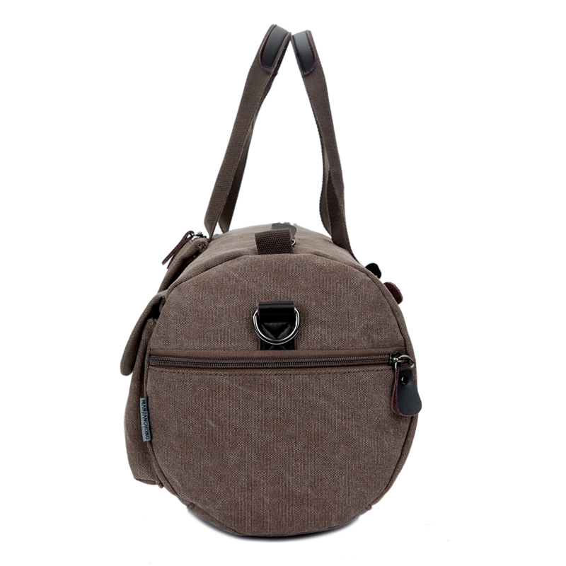 15inch Laptop Men Canvas Crossbody Bag Casual Outdoor Sport Travel Handbag