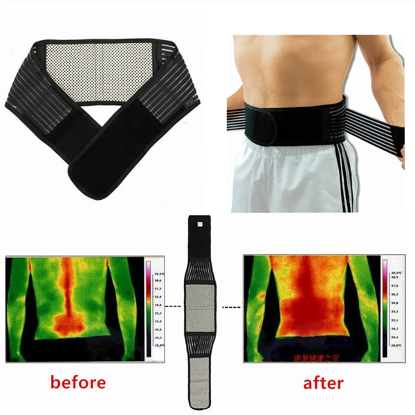 Tourmaline Magnetic Therapy Lower Back Waist Support Belt Self Heating Backache Pain Relief cnim hot 5pcs water level monitor sensor right angle float switches zpc1 white
