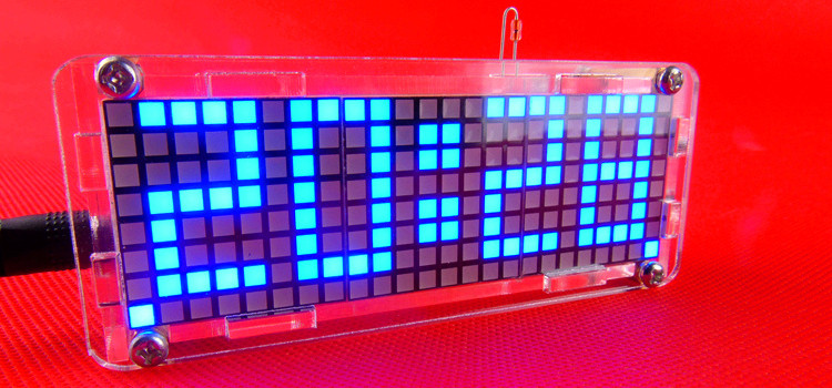 596aec82-9399-4d55-af67-ab5ff8c237ff 5V DIY Dot Matrix Digit LED Electronic Clock Kit Temperature 24 Hours Display