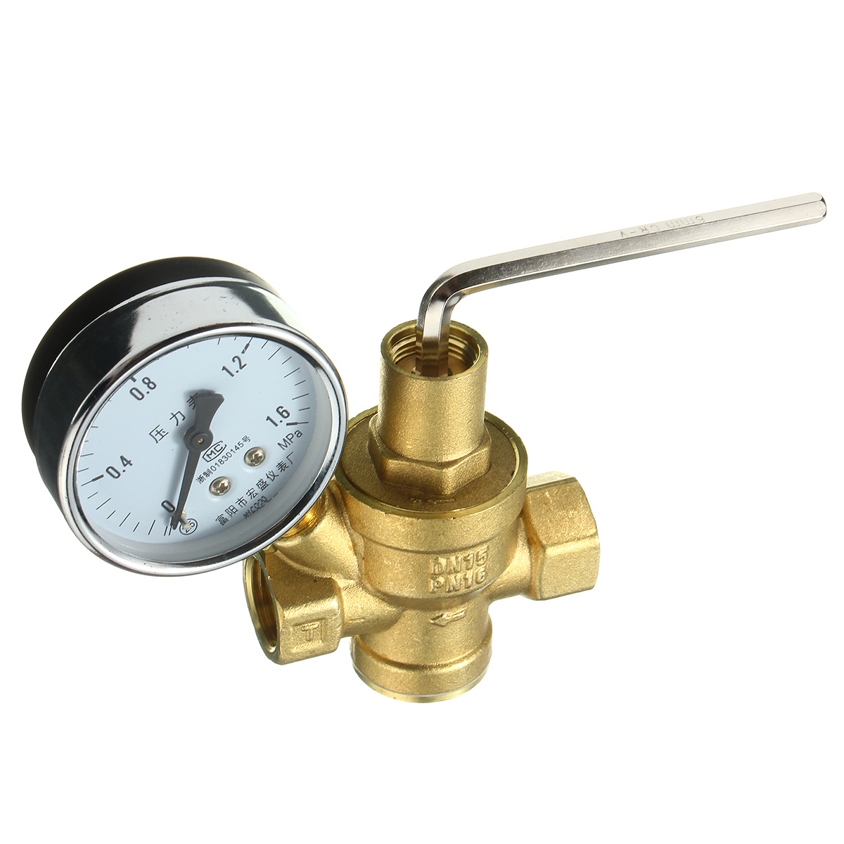 dn15 1 2inch bspp brass water pressure reducing valve with gauge flow adjustable goodbuy sedo. Black Bedroom Furniture Sets. Home Design Ideas