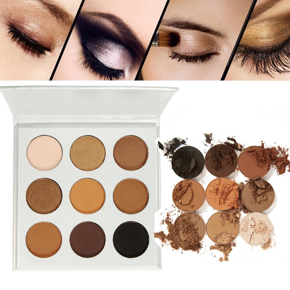 9 Colors Earth Eye Shadow Makeup Palette Set Cosmetic Shimmer Matte Eyeshadow