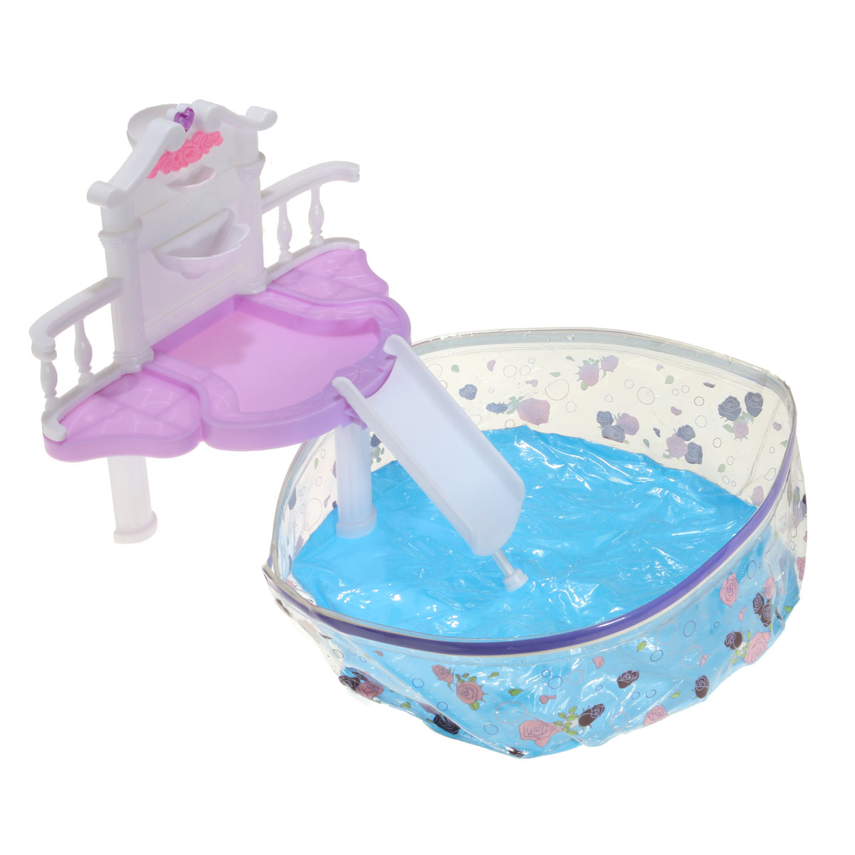 Waterfall Fantasy Swimming Pool For Doll Accessories Kit Toy Alex Nld