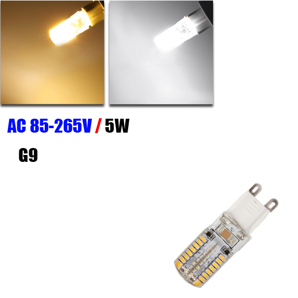 G9 5W White/Warm White 64 SMD 3014 85-265V LED Corn Light Bulb mr16 4w 280 lumen 3500k 4 led warm white light bulb ac 85 265v