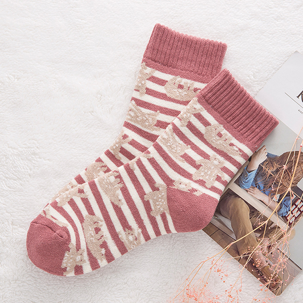 Womens Winter Deodorization Stripes Socks