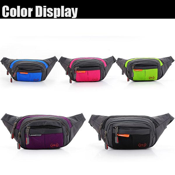 Men Nylon Waterproof Crossbody Bag Casual Outdoor Sport Waist Bag