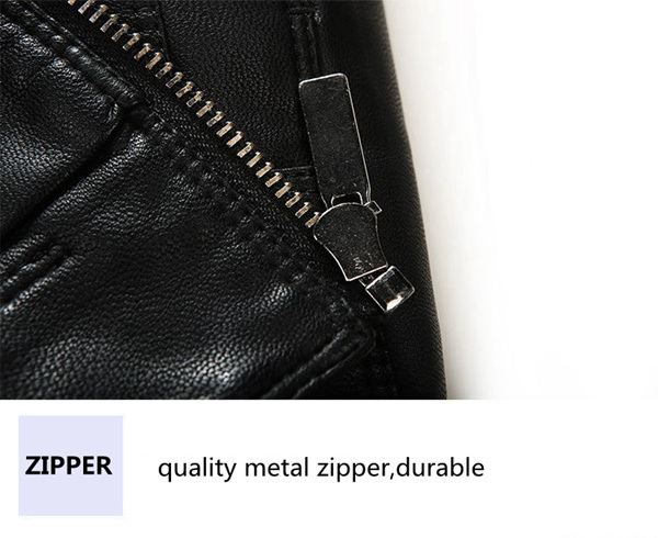 Mens PU Leather Zipper Pure Color Fashion Stylish Outwear Jackets