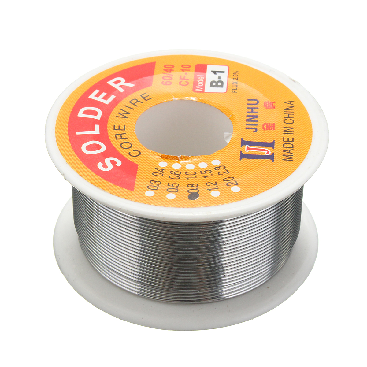 0.8mm 60/40 Tin Lead Solder Wire HQ Flux Multi Rosin Cored Solder for DIY Hobby,  is suitable for computers,  electrical appliances,  mobile phone repair,  electronic welding,  DIY creation.