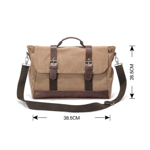 Men Canvas Retro Casual Multifunctional Messenger Outdoor Crossbody Bag Handbag