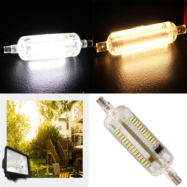 R7S LED Bulb 8W 78MM SMD 3014 108 Pure White/Warm White Corn light Lamp 220V-240V compatible p vip 230w 0 8 e20 8 projector lamp np19lp bulb for u250x u260w