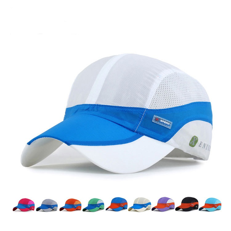 Unisex Mesh Polyester Baseball Cap Breathable Outdoor Sport Quick Dry Adjustable Buckle Hat
