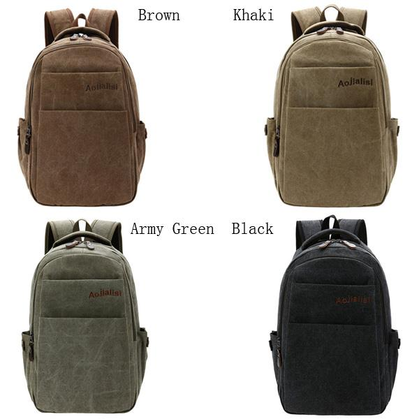 Men Women, Canvas Retro Casual, Travel Big Outdoor, Shoulders Bag Backpack