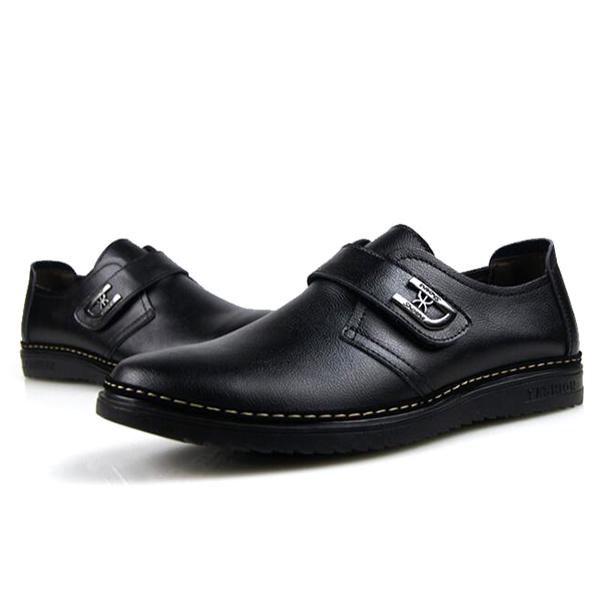 Men Comfy Leather Hook Loop Business Oxfords