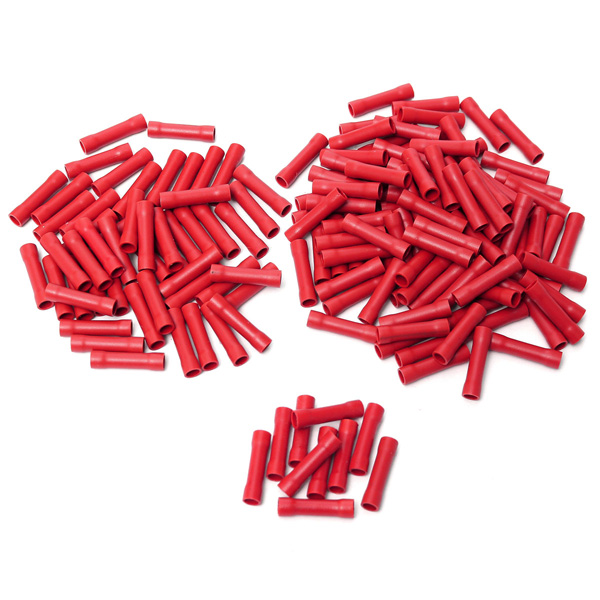 Buy Red Insulated Butt Connector Electrical Crimp Terminal for 0.5-1.5 SQMM Cable