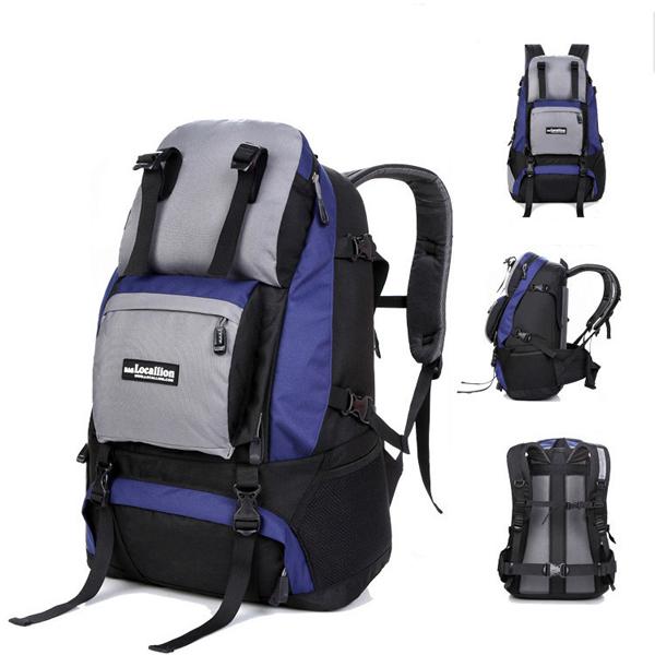 40L grande capacidade de viagem mochila impermeável nylon 15 '' computador saco para homens