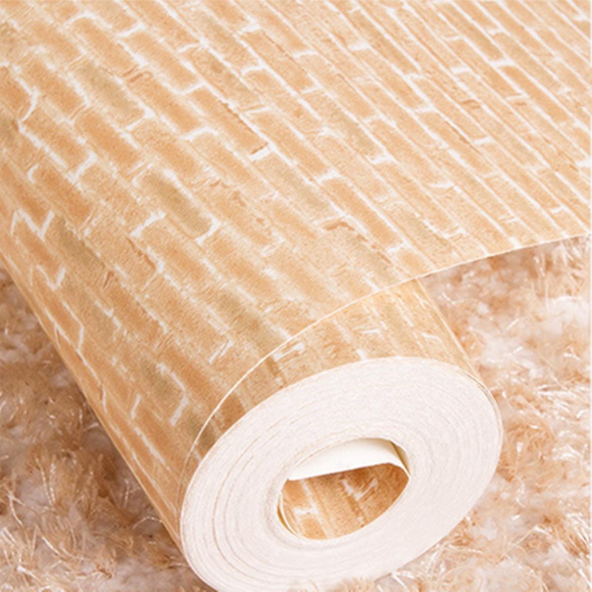 10m 3d carta da parati rotolo effetto vintage naturale for Carta da parati effetto pietra 3d
