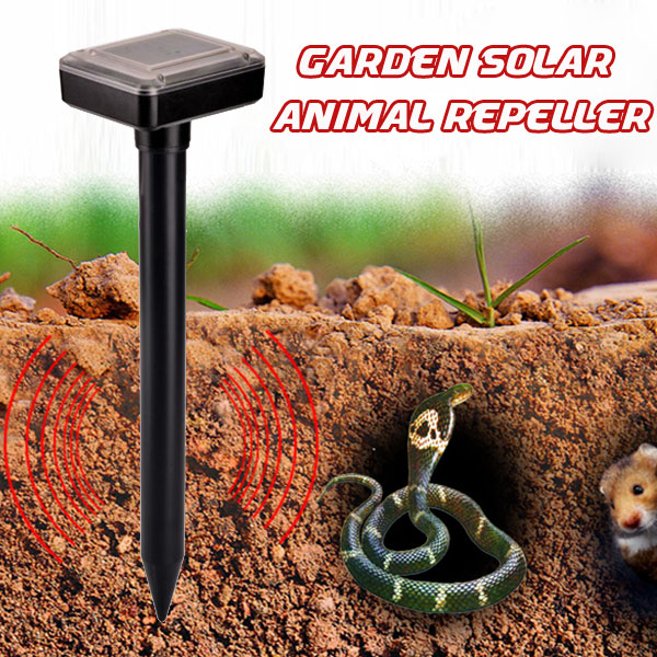 Outdoor Garden Solar Power Mole Repeller Iltrasonic Mouse Repellent от Banggood INT