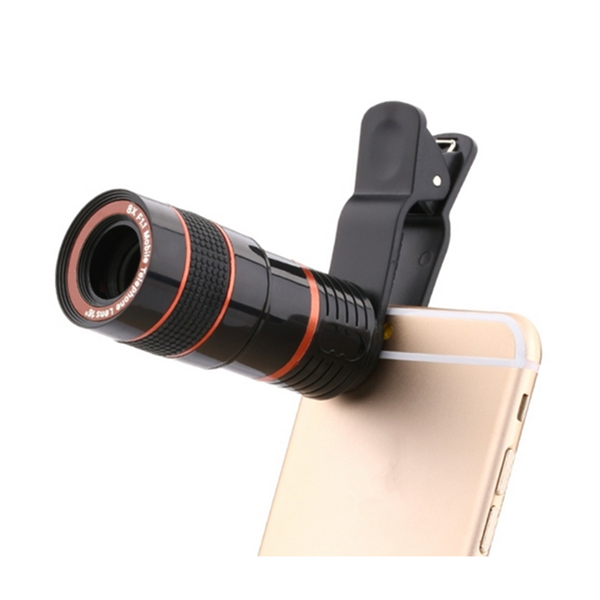 Universal 8X Optical Zoom Telescope Camera Lens For Mobile Phone 8x zoom telescope lens with protective back case for iphone 5 black silver