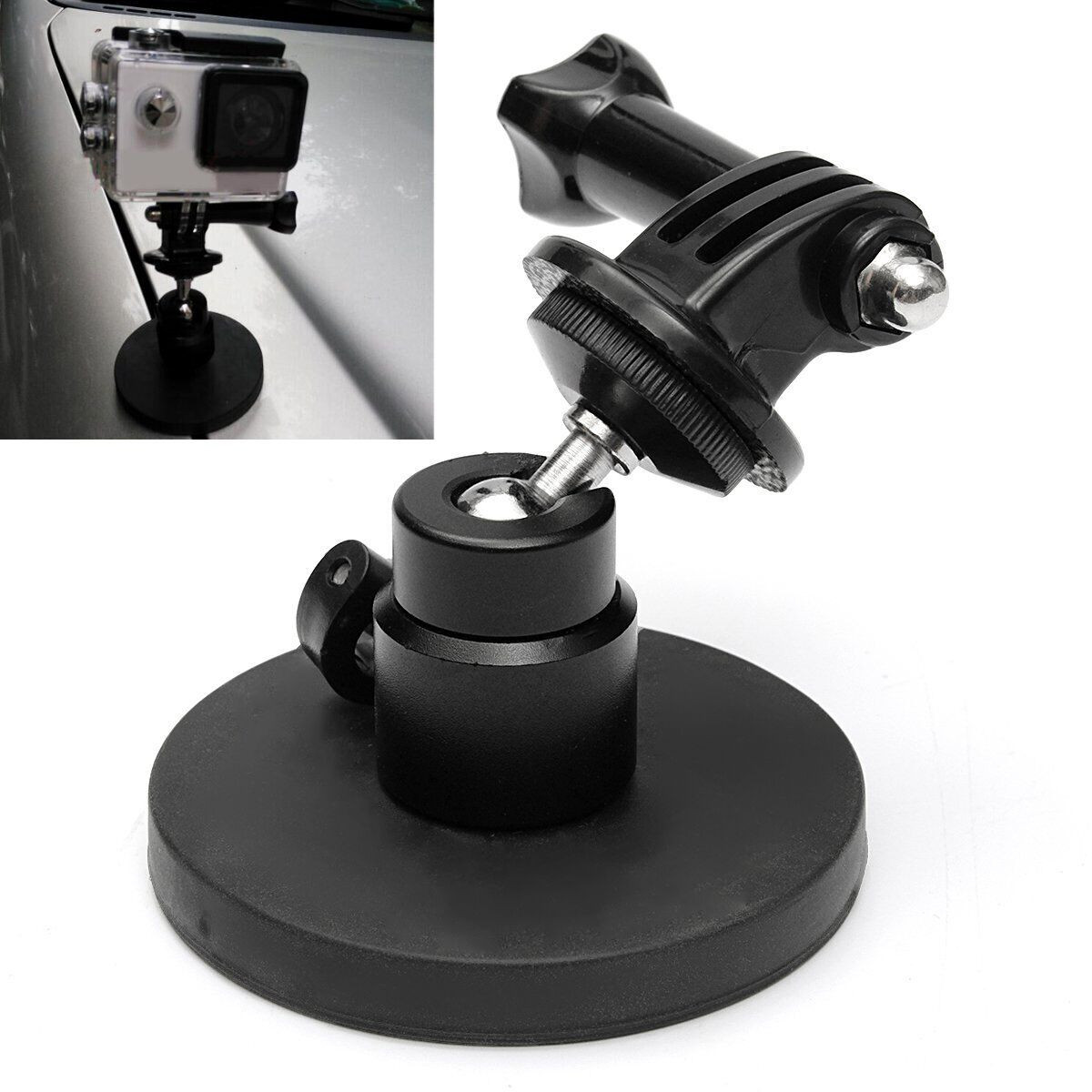 Magent magnetic car suction cup mount holder stand for gopro hero2 3 3 plus 4 sale banggood