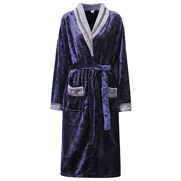 Winter Thicken Flannel Cardigan Bathrobes Comfortable Keep Warm Nightwear For Women Men Couples