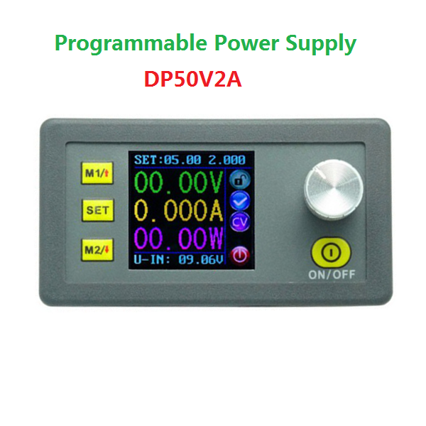 DP50V2A Buck Adjustable DC Power Supply Module With Integrated Voltmeter Ammeter Color Display long distance high power wireless power supply module wireless power wireless charging module wirelesspower