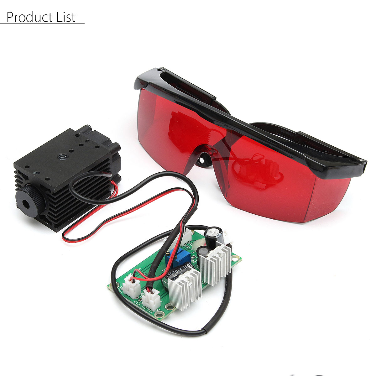 Focusable High Power 2.5W 450nm Blue Laser Module TTL 12V Carving free Goggles 30