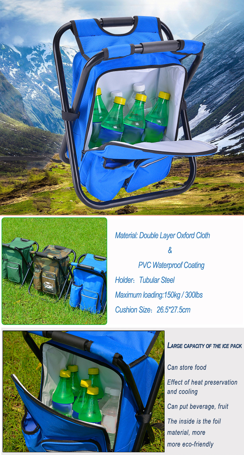 3 In 1 Outdoor Portable Multifunctional Foldable Cooler