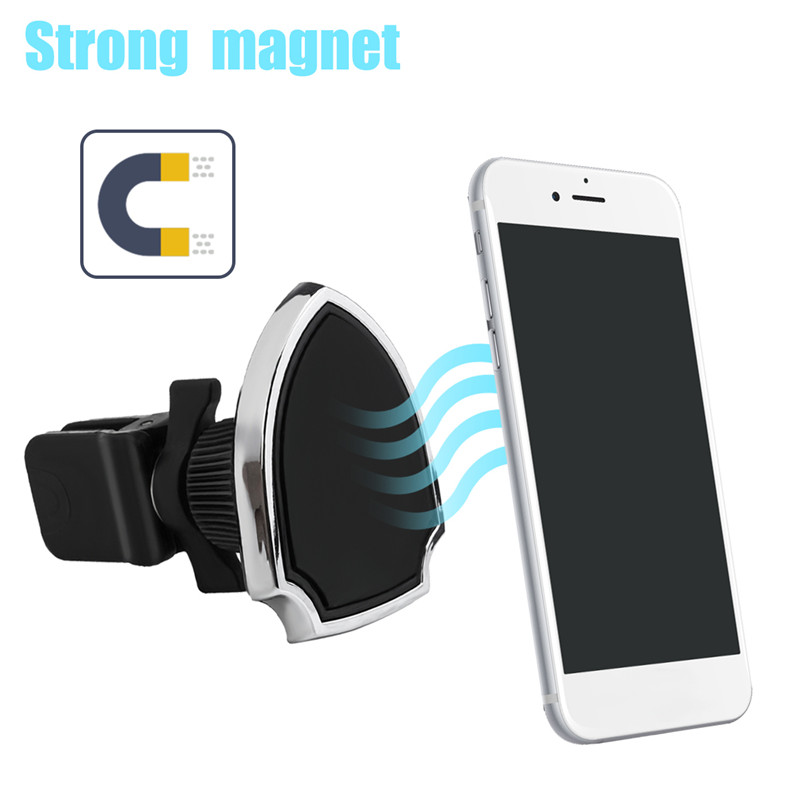 Universal Strong Magnetic 360 Degree Rotation Car Mount Air Vent Phone Holder Stand for Mobile Phone