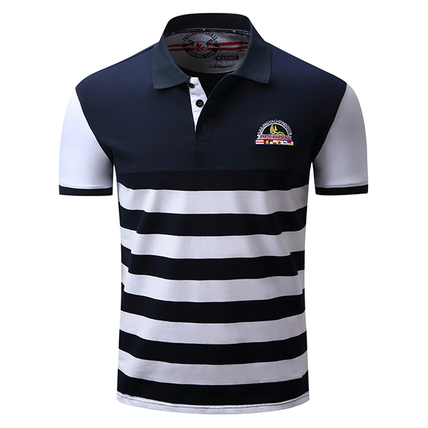 Spring summer casual business polo shirt men s fashion for Business casual polo shirt