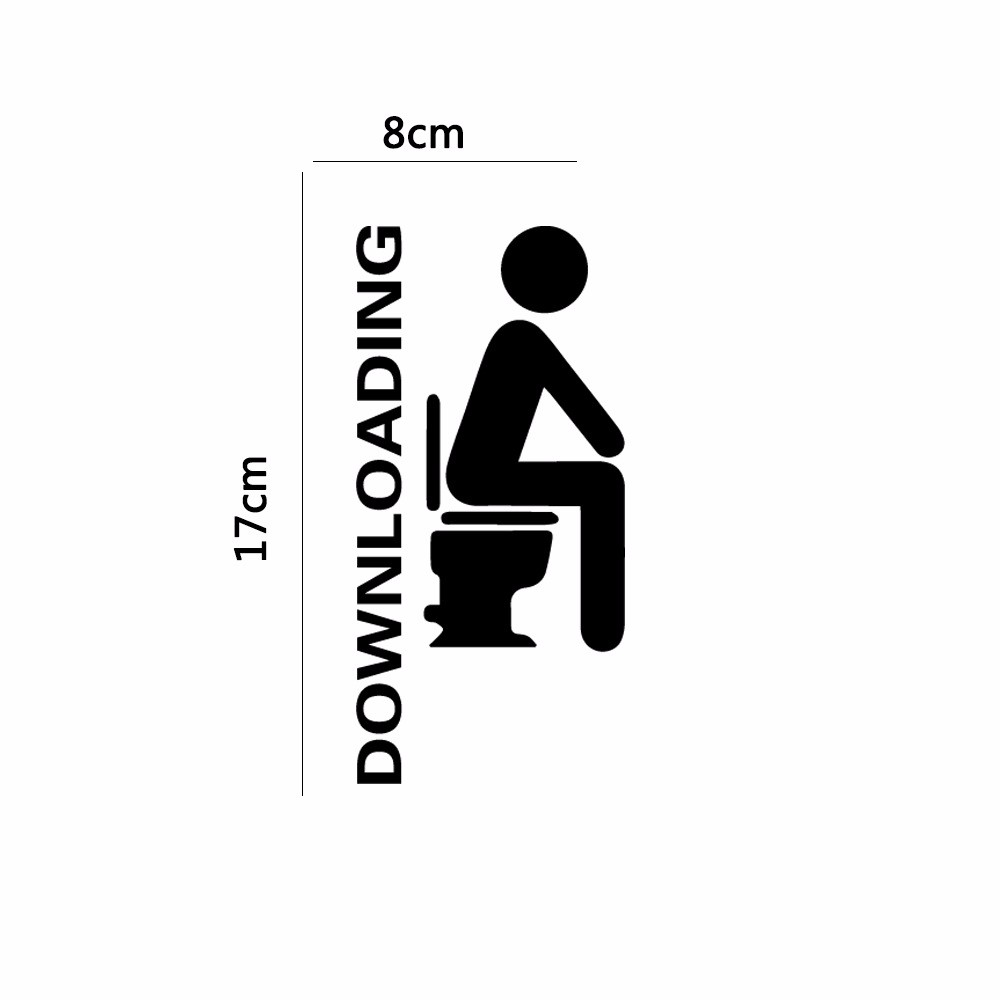 Honana DX-014 15x20cm Fluorescent Glow Toilet Wall Sticker Room Thinking Downloading