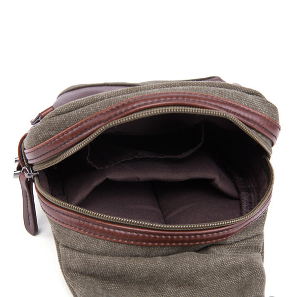 Men Bag, Canvas Causal Travel, Outdoor Shoulder Crossbody Chest Bag