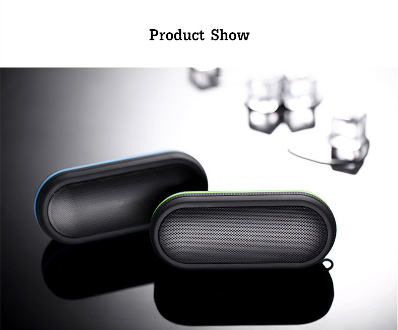 Waterproof 3D Sound Stereo Bass TF Card AUX-in Hands-free Wireless Bluetooth Speaker With Mic